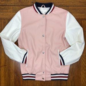 Zara Girls Faux Leather Bomber Jacket Size 11/12